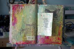 """Donna Downey using the Balzer Designs """"Tiny Circles"""" stencil."""