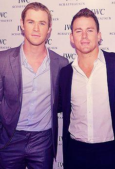 Chris Hemsworth & Channing Tatum- aka two of my three guys. I love it.