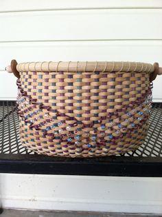 Sunset Boulevard hand woven basket by BasketsByMichele on Etsy