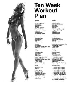 awesome weekly workout plan!!