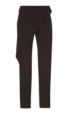 Shop Flap Fronted Black Trousers by Kenzo RTW Now Available on Moda Operandi
