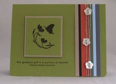 Of the Earth - Stampin' Up! love the layering, looks like a square card