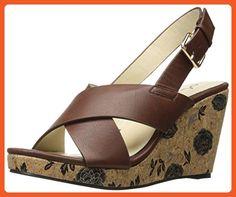 Annie Shoes Women's Hypo Drive W Espadrille Wedge Sandal, Brown, 9.5 W US - Sandals for women (*Amazon Partner-Link)