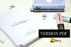 Recharge agenda non daté à imprimer pour organiseur planner type Filofax - Shirley Chiche