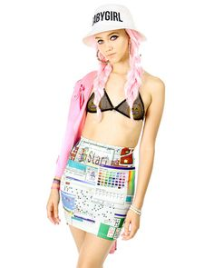 OMG!!!!! Check out what I found on Shop Jeen.com!!! What do you think?!?! WINDOWS 95 SKIRT
