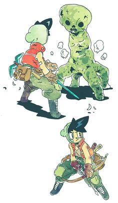 "I had a story — very ""Dragon Ball… Character Design Cartoon, Fantasy Character Design, Character Creation, Character Design References, Character Design Inspiration, Game Character, Character Concept, Concept Art, Animation Character"