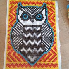 Owl perler bead art by mariabenedicte