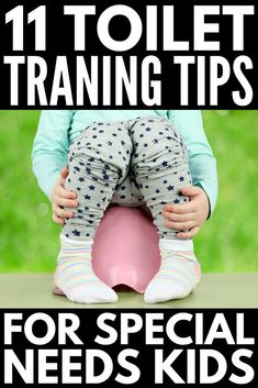 How to Potty Train a Child with Special Needs | Potty training a child with autism and other special needs like sensory processing disorder and speech delay can be extremely challenging. From visual schedules and sticker charts to sensory safe products and ideas, we've got 11 tips to help parents and special needs kids overcome the challenge of toilet training. #parenting #parentingtips #parenting101 #autism #specialneeds #SPD #sensoryprocessingdisorder #pottytraining #pottytrainingtips