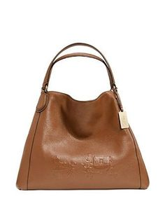 Coach Embossed Horse and Carriage Leather Edie Shoulder Bag 2931aec77f