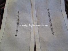 2/2 LINEN ARTISAN: Visillo con vainicas terminado /finished net curtain drawn-work http://tallerdelino.blogspot.ie/2013/01/tutorial-de-un-visillo-con-vainicas.html