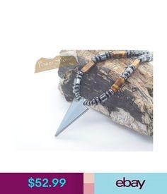 Chains, Necklaces & Pendants Men's Arrow Head Golden Tigers Eye Stone Hematite Pendant Healing Necklace Sale #ebay #Fashion