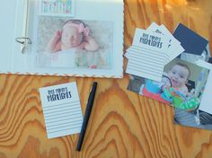 Handmade Baby Album / Baby Book / Baby Boy Gift / Baby Girl Gift. Premade Baby Scrapbook with room for parents to add a picture and a few notes each month! Makes a really special gift. by HotWheelsandGlueGuns