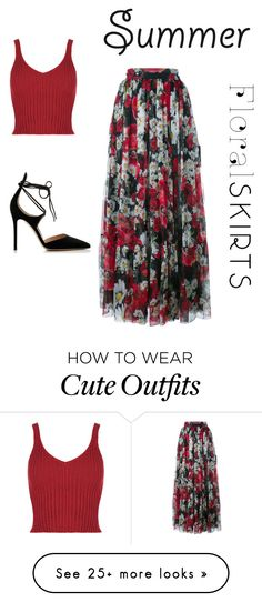 """""""cute summer outfit"""" by proudfoot-kay on Polyvore featuring Dolce&Gabbana, Gianvito Rossi and Floralskirts"""