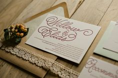 Willow Suite Rustic Package, rustic wedding invitation with lace, lace wedding invitation, pink and green, blush invitation, 2014 wedding trends, kraft invitation, letterpress wedding invitation