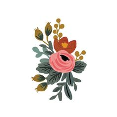 If you are a fan of Rifle Paper Co. then you will recognize this lovely floral design; now available in a temporary tattoo! A set of two tattoos, each measuring 2 by 3 inches. They're safe and non-tox