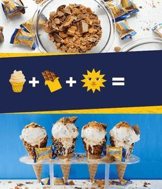 Beat the summer heat with this No-Churn BUTTERFINGER® Ice Cream Recipe. Made with BUTTERFINGER® Minis, this homemade ice cream is packed full of the crispety, crunchety, peanut-buttery taste that you know and love. Serve up a scoop of this rich and creamy vanilla ice cream as a special summer treat that your friends and family will ask for again and again. Click here for the full easy recipe.