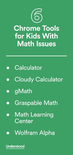 If your child has trouble with math, there's assistive technology that can help. Here are six Chrome apps and extensions to check out.