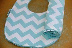 Baby bib and burp cloth for Boy /Girl  Riley Blake by Finney, $15.00
