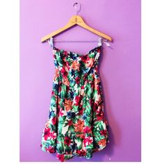 SALE ($30) Floral tube dress  As seen in the photos, gorgeous tube dress perfect for a summer day! Forever 21 Dresses