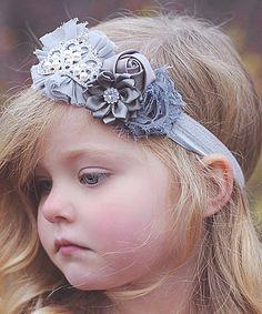 Love this Gray Tiara Flower Headband by Head over Heels on #zulily! #zulilyfinds