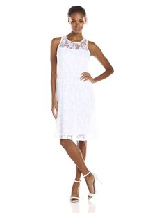 Only Hearts Women's Summer Song Cut Away Tank Dress, White, X-Small. Relaxed fit, yoke detail, tank dress. Manufactured in New York city garment district.