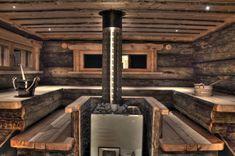 Sauna, love this sauna. So rustic and cozy Finland Diy Sauna, Sauna House, Sauna Room, Steam Bath, Steam Room, Jacuzzi, Rustic Saunas, Piscina Spa, Sauna Design