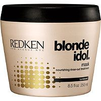 Redken Blonde Idol Mask - $20.50 @ ULTA Beauty - This product is AMAZING! Helps reverse even the most extreme damage and dryness due to the repeated use of lightening products. Leaves hair feeling healthy, strong, and refreshed!