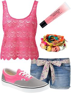 """pink"" by let-the-sun-shine ❤ liked on Polyvore"