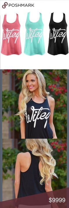 🆕COMING SOON- Black Wifey Tank Top New, direct from vendor. Please refer to SZ chart prior to purchasing. Tops Tank Tops