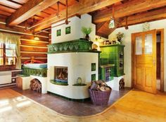 Русская печь с изразцами Cob House Interior, Small Space Staircase, Home Rocket, Cordwood Homes, Stair Shelves, Earth Bag Homes, Eco Friendly House, Cottage Interiors, Fireplace Design