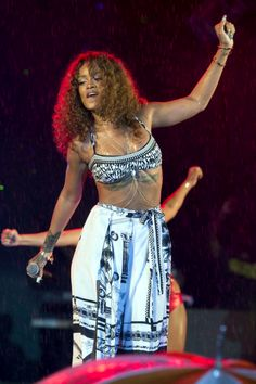 Rihanna at the 1LOVE Festival in Barbados.