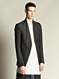 Rick Owens Men's Sale | rick-owens-black-rick-owens-mens-folded-blazer-product-2-3009169 ...