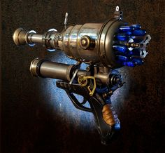 Ray gun number 2.  Steampunk weapon. $25.00, via Etsy.