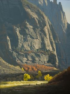 "Wow! ... ""Zion, Chasing the Light"" by Dennis Farris, Oil ~ 48"" x 36"""