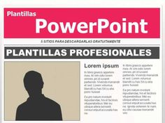 5 webs para descargar plantillas PowerPoint gratis #plantillaspowerpoint