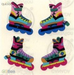 Shiny Rollerblades Rollerblading Sandylion Stickers (#43)  by petitange - $0.20