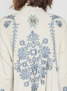 Detail: Johnny Was Biya Embroidered Ephrym Wrap #blue #decorative #boho #embroidery