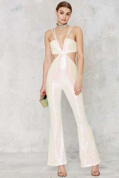 Glamorous Pop Fizz Clink Sequin Jumpsuit - What's New