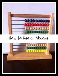 How to use an abacus for homeschool preschool starting as early as age 1. Includes free video guides how to use it.