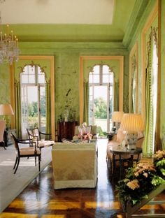 Garden room architecture Gracie and The Garden Room at Winfield House - The Glam Pad House Design, Decor, Green Rooms, Traditional Interior, French Doors, House, Garden Room, Winfield House, French Doors Interior