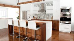 120 awesome farmhouse kitchen design ideas and remodel to inspire your kitchen Open Plan Kitchen, New Kitchen, Kitchen Dining, Kitchen Decor, Kitchen Cabinet Design, Kitchen Cabinetry, Beautiful Kitchens, Cool Kitchens, Kitchen Collection