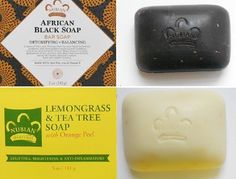 Nubian Heritage -1- Afri- Black Soap &1- Lemongrass Soap - 5oz Bars/ Shea Butter #NubianHeritage