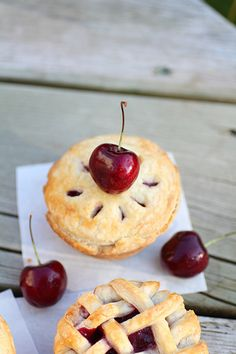 Mini Cherry pies by Adventuress Heart, via Flickr