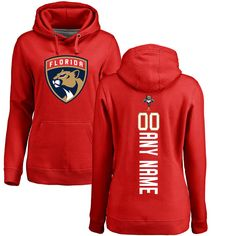 Florida Panthers Fanatics Branded Women's Personalized Backer Pullover Hoodie - Red