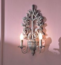french wall sconce French Walls, Rose Bouquet, Wall Sconces, Sweet Home, New Homes, Chandelier, House Design, Ceiling Lights, Candles