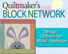 Design Options for Wool Applique-Bunny Quilt