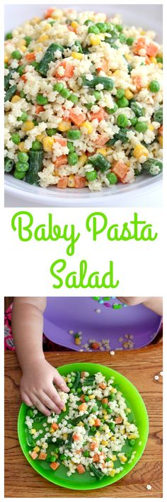 Let your little eater feed themselves this yummy pasta salad that's full of veggies and tossed in a yogurt dressing. Baby loved, mama approved! How cute is this pasta salad? It's so perfect for your littlest eater or any kiddo in the house for that matter. All of my kids love it, but especially baby girl… I...