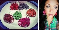 Super Light Weight Wooden Filigree Earrings- 10 Colors!  BRING ON SUMMER!