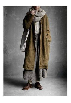 layers of textile and textures tones warm Mode Outfits, Fashion Outfits, Womens Fashion, Looks Style, Style Me, Moda Natural, Mori Mode, Mori Fashion, Hipster Grunge