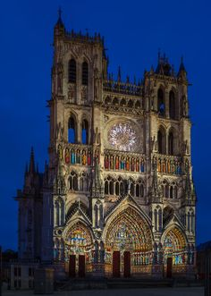 Amien Cathedral Light Show Cathedral, Spaces, Cathedrals